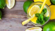 فوائد عصير الليمون مع النعناع