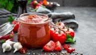 طريقة عمل صلصة الطماطم وتخزينها