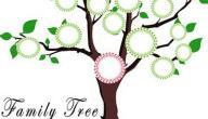 كيفية عمل شجرة العائلة