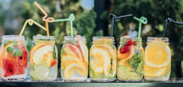 طرق تقديم العصير