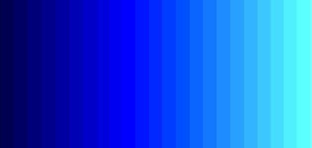 كيف نحصل على اللون الازرق
