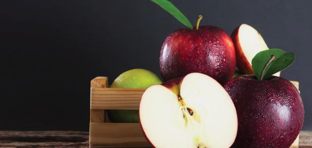لون التفاح بعد التقشير
