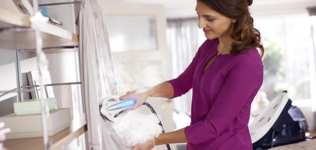 طريقة استخدام مكواة البخار للملابس