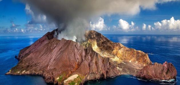 أجزاء البركان
