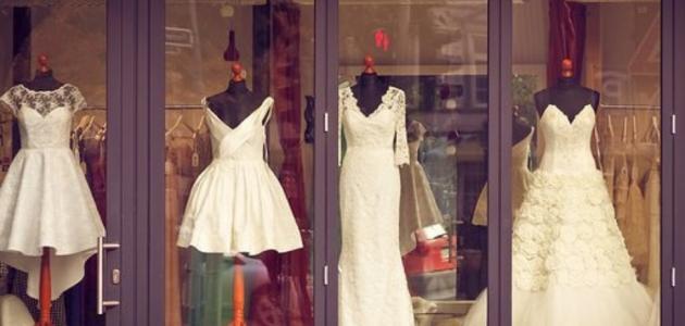 أشكال فساتين زفاف