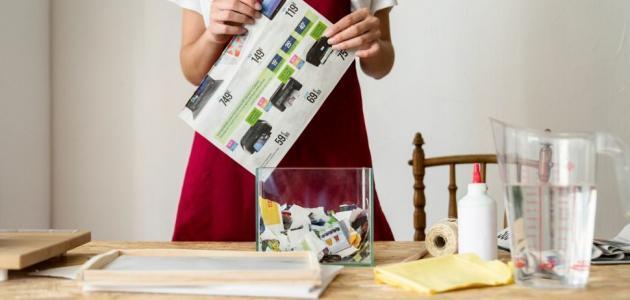 أفكار لإعادة تدوير ورق الجرائد اصنعيها بنفسك