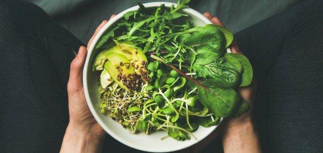طريقة عمل سلطة خضراء صحية سهلة