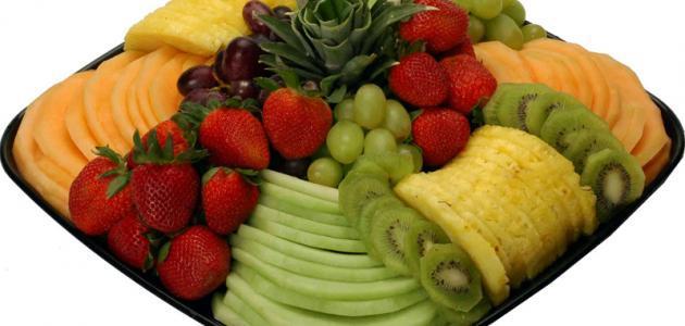 طريقة تقطيع الفواكه